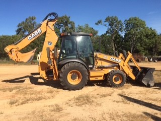 2016 Case 590 Backhoe with 300mm and 450mm buckets, 1000mm GP Bucket, 1500mm mud bucket